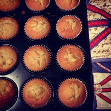 fresh nectarine cupcakes